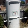 富岡市、七日市病院入口北の白ポストは高崎市型の現地改修?