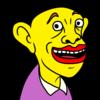 にっこり微笑む黄色い人 のイラスト