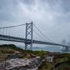 【写真】大雨の瀬戸大橋、与島PAより(2019/04/29)