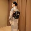 【コーディネート例】黒の帯で猫コーデ(2月下旬)