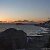 富士山と江の島、夕焼けを一望できる「稲村ケ崎公園」から夕暮れを撮影する