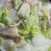 「とり肉の豆乳クリーム煮」を作ってみました。寒い季節はスープ・シチュー風でもOKかも。