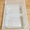 無印良品のPPケースとダイソーの積み重ねボックスの相性がバツグンでした。