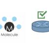 [Ansible] molecule でネットワーク機器の設定後のテストを自動化する(いまいち編)