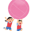 キンボールの打ち方は大きく2種類