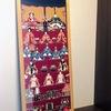 お雛様の壁掛け(タペストリー)「手ぬぐい」額で飾る季節のインテリア