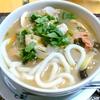 【今日の食卓】豚骨うどん。昨夜のとんこつ鍋の残りスープで作った