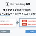 はてなブログProで独自ドメインをご利用の際、サブドメインなしでも運用できるようになりました