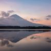 田貫湖で朝の富士山リフレクション