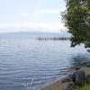 日の光が差してきた、湖西地方です。