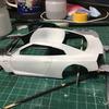アオシマ LBワークス R35 GTR type2 製作 ② 下地塗装