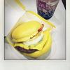 マクドナルドの「金の月見バーガー」を食べました。