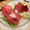 錦三にあるマグロ料理と日本酒飲み放題のお店にて。