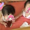 双子とおもちゃ