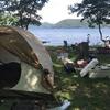野尻湖でキャンプ