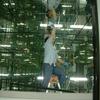 彫刻鏡の部屋の鏡拭き