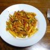 ゴボウのパスタ①トマトソース