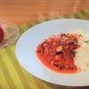 おびゴハン!【イカとタコのトマト煮込み】【丸ごと!トマトのクリームサラダ】レシピ