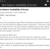 Office 365 Business でも Access が使えるようになるそうです