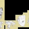超時空騎団サザンクロス 防空軍与圧服・背部パック、拳銃とホルスター