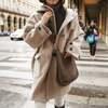 韓国ファッション レディース ダッフルコート フード付き ラシャコート ウールコート アウター