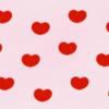 ハートの壁紙(ピンク×レッド)