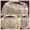ネット編みのバッグ
