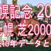 【札幌記念 2020】過去10年データと予想