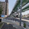 山崎川の河口へ その4  呼続大橋~呼続ポンプ所前の交差点