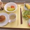 妊娠後期、妊娠糖尿病による入院3日目。分食による食事療法。