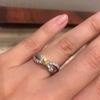 ファンシーディープのカラーダイヤモンドリング