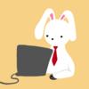【イラスト素材】パソコン業務するウサギ