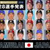 【侍ジャパン2018】強化試合スタメン・打順予想!メンバー発表も