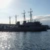2020年10月11日のアレイからすこじま(いえしま型掃海管制艇) (うわじま型掃海艇)