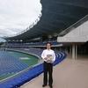 新総合運動公園県陸上競技場を視察
