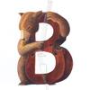 水彩画「Bear / Bassist (改訂)」