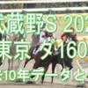 【武蔵野S 2020】過去10年データと予想