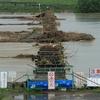 流れ橋(台風11号の爪あと)京都府八幡市
