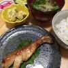 今日の夕食 タラのバターポン酢焼き