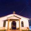 南十字星と天の川流れるピラポ教会