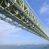 淡路島から明石海峡大橋