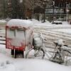 雪の日の仙台。