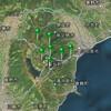 神奈川県西部の群発地震+鳥島近海でもM5前後の群発地震