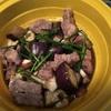 【自炊】豚肉とナスとキノコの和風蒸しニラ玉のせ【スチーマー】