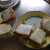 幸運な病のレシピ( 1400 )昼:サンドイッチ(ポテトサラダ、冷シャブレタス)、焼き鳥(マサヤーン秘伝のタレ)