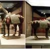西安大唐西市博物館(その17:2階常設展⑫銅鏡・三彩独立展示/⑬破鏡重円)