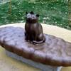 練馬区立美術館の庭の彫刻