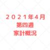 【家計管理 結果 検証】2021年4月 第四週 家計概況