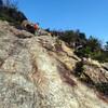 中山最高峰から大峰山へのリベンジハイキング(その2)中山連山縦走路岩場