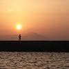 昼間は見えない富士山でしたが?